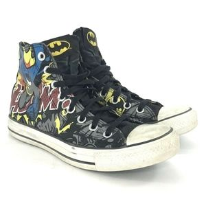 Converse Mens Size 7 Batman Chuck Taylor All Star